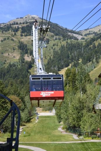 Tram coming down