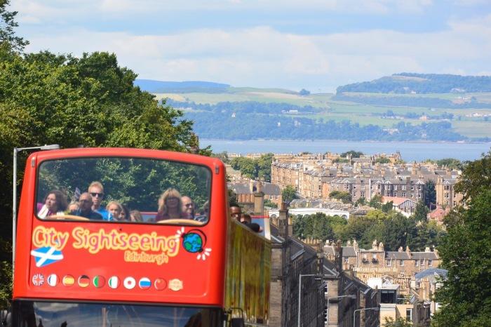 Edinburgh tour bus