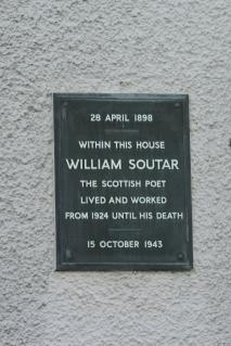 Soutar memorial plaque