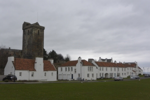 St Serf's Tower and Pan Ha' Cottages