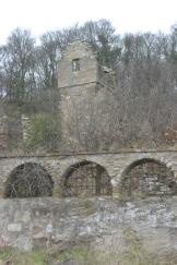 Walled chapel garden
