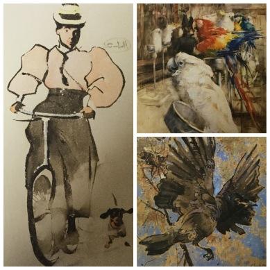Joseph Crawhall collage