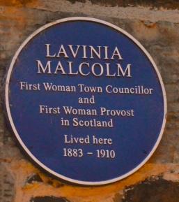 Plaque to Lavinia Malcolm