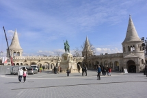 Fisherman's Bastion and Statue of King Stephen