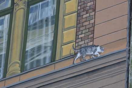 Mural - cat detail