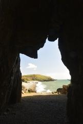 View through the entrance