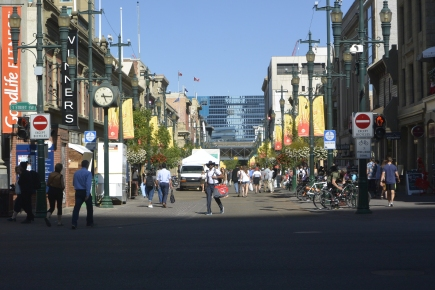 Calgary street scene