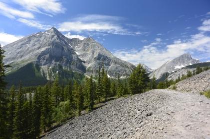 Climbing to boulder field