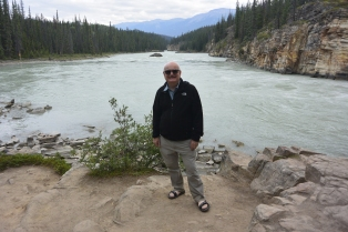 Athabasca River at Athabasca Falls