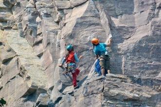 Lakeshore climbers