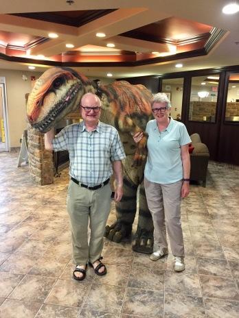 Meeting a dinosaur!