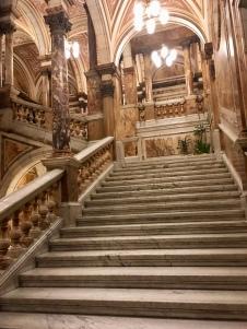 Carrara marble staircase
