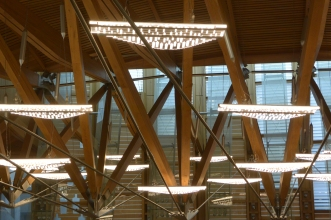 Scottish Parliament Debating Chamber lights