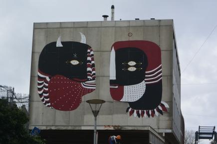 Street art on Hoogte Kadijk