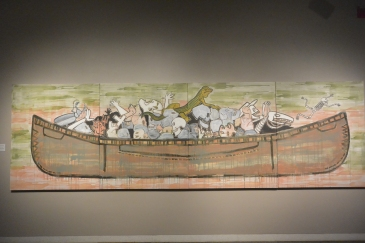 Trade canoe for Don Quixote by Jaune Quick-to-See Smith