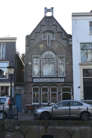 Art nouveau building (1901)on Nieuwegracht