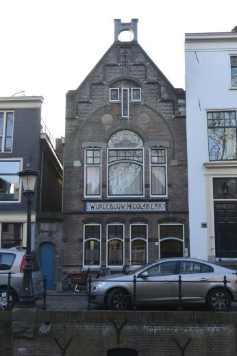 Art nouveau building (1901)on Nieuwegracht