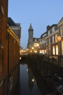 Night canal view