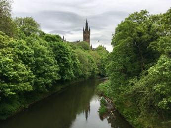 Glasgow University and River Kelvin