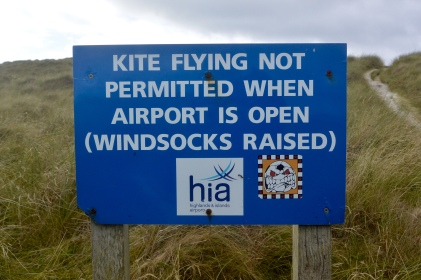Barra airport sign
