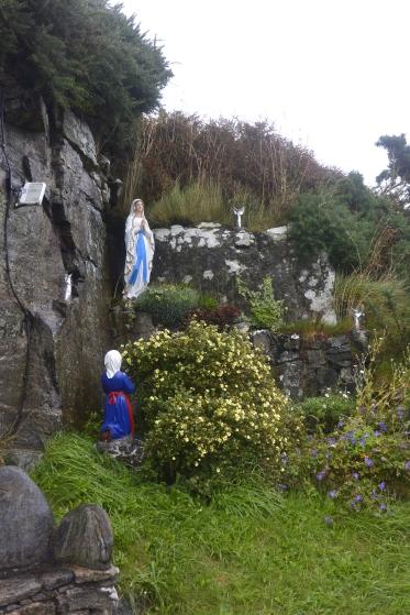 Shrine behind church