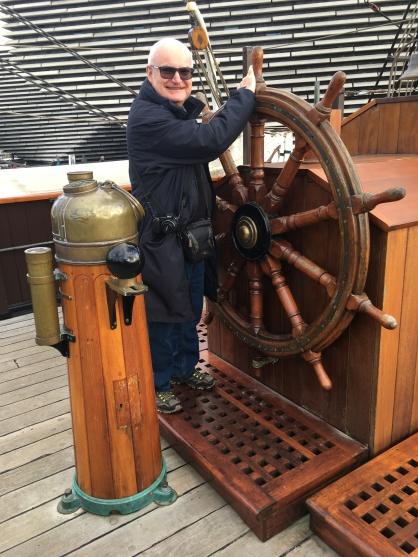 John at the wheel