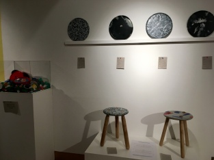 Recycled stools and trays by Still Life