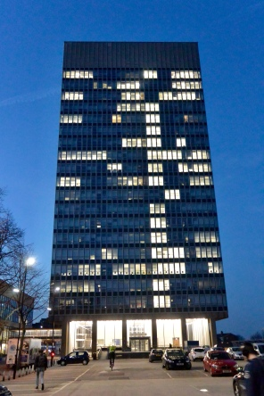 Arts Tower by night
