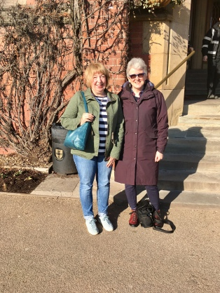 Jacky and Anabel outside Firth Court