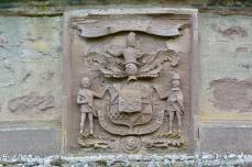 Monzie Castle crest