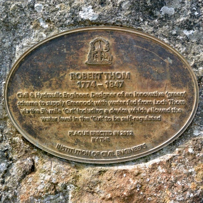 Plaque at Greenock Cut