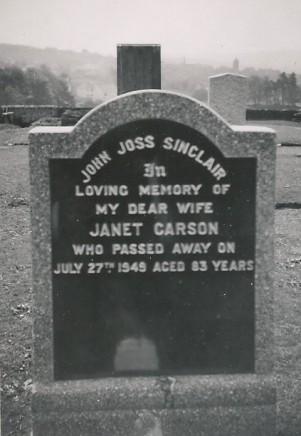 Janet Carson's grave