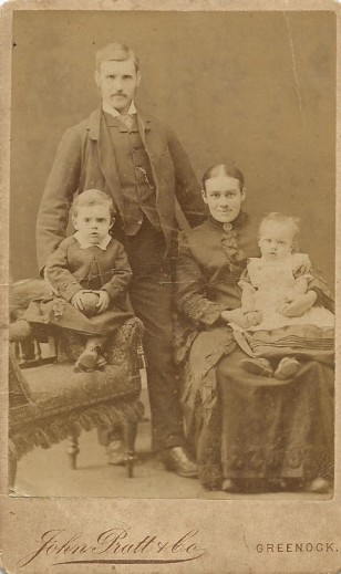 John and Janet Sinclair with their first two children, John and Meg