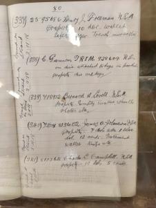 Sgt MacNeill's notebook