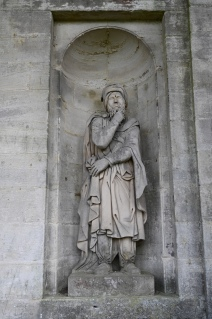 Statue by entrance