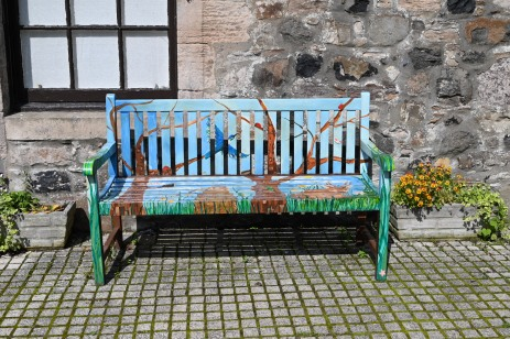 Courtyard bench