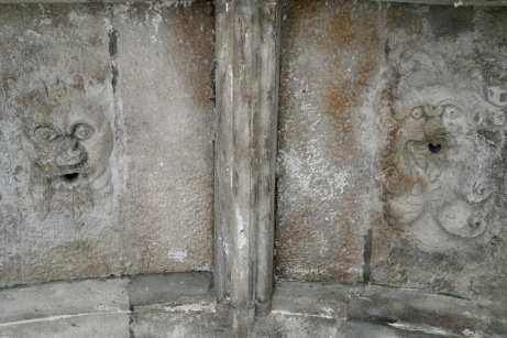 Green Man carvings on ceilings