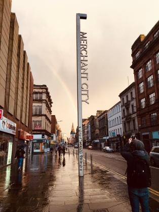 Rainbow over Argyle Street