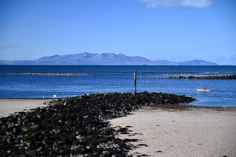 Irvine with view of Arran