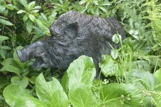 Wild boar, bronze, unknown, Thailand.