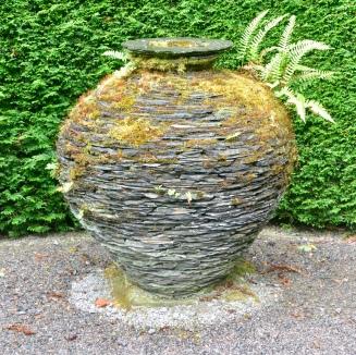 Urn, mixed slate, Joe Smith.