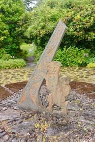 Giant sundial, slate
