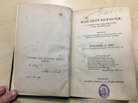 Much about Kilmacolm, 1872
