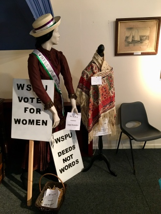 Suffragette dispaly.