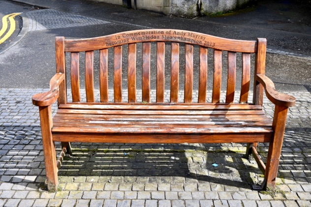 Andy Murray bench