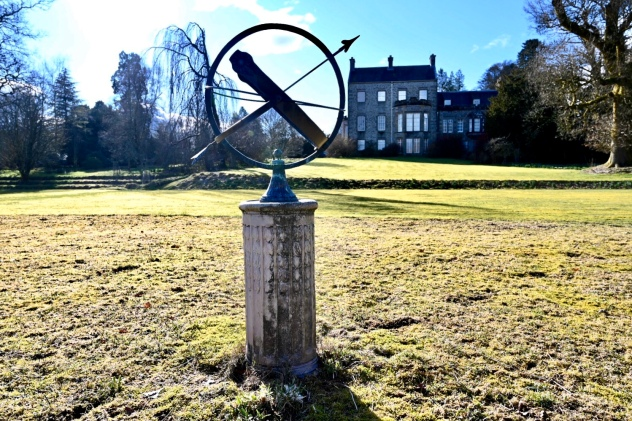 Sundial on old tennis court