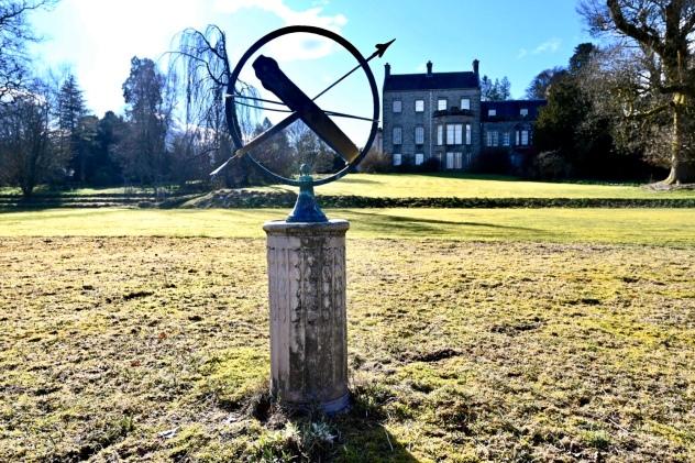 Sundial on old tennis court