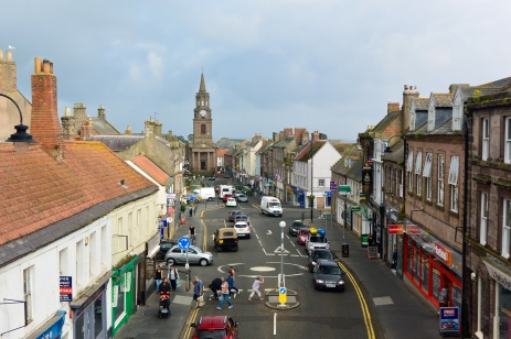 Town centre from Scots Gate