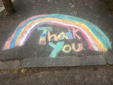 Chalk rainbow
