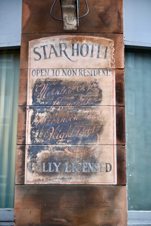 Star Hotel ghost sign